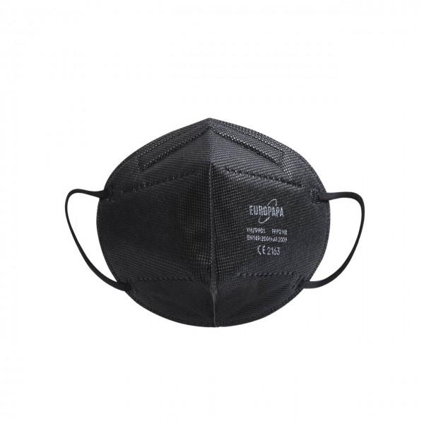Schwarze FFP2 Feinstaubmaske ohne Ventil
